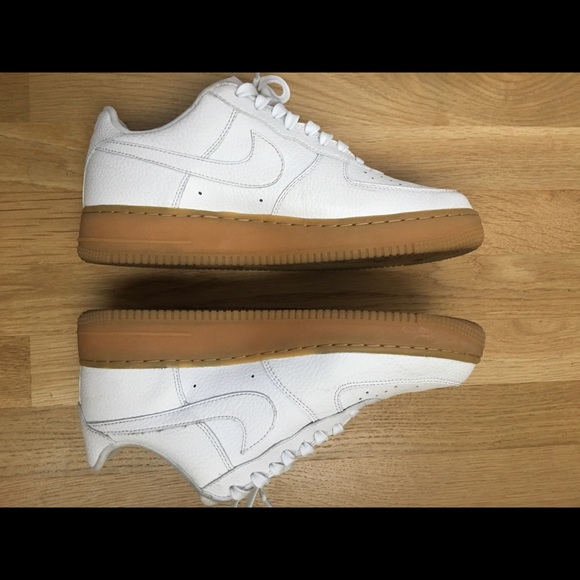 Nike Air Force 1 white gum light brown, size 9